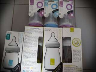 New Umee Feeding Bottle 160ml 5oz / 260ml 9oz / Teats Size x / Teat Size 3