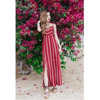 Dress Collection - Hot Summer Holiday Long Red Dress