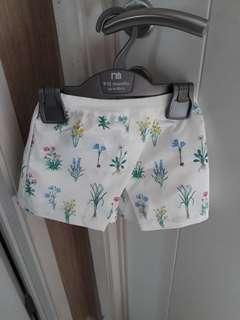 GS flower short pants