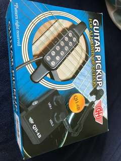 Guitar Pickup Amplifier with Lapel Microphone