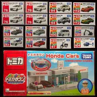 【TOMICA 全新未開封 TOMY】16架車 全新未開封   Honda ShowRoom 已開、齊件齊貼紙