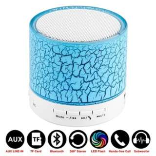 (179)LED Mini Bluetooth Speaker Wireless Hands-Free Portable With Mic TF USB FM