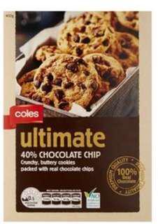 Coles Choc chip cookies