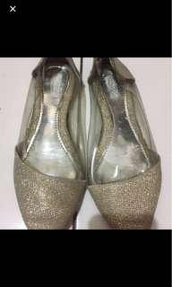 Turun Harga Glitter Flat Shoes Mika
