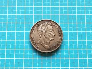 Netherlands 21/2 Gulden Willem Konning Silver Coin 1840