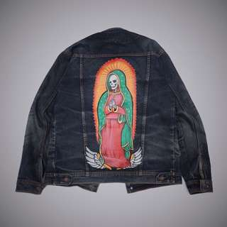 levis jacket denim original custom painting