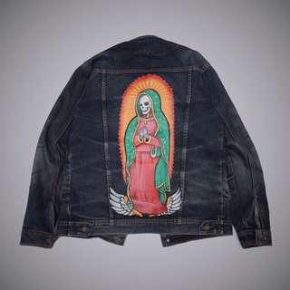 levis jacket denim original custom painting