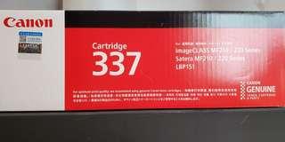 Canon Cartridge 337 打印機碳粉盒 100%new正貨