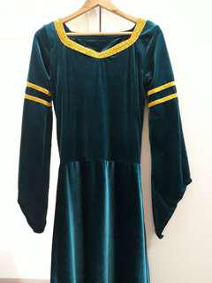 Merida Emerald Green Medieval Gown for RENT