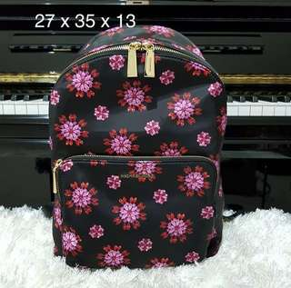 MK wythe large backpack black ultrapink