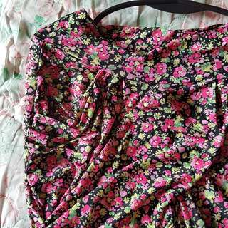 CASUAL COMFY HIGH WAIST FLORAL PRINT PANTS