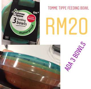 Tommee Tippe bowl (3pcs)