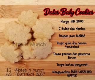 Dates Baby Cookies ( 7m+ )