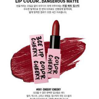 3CE Dangerous Matte Lipstick in Cheeky Cheeky
