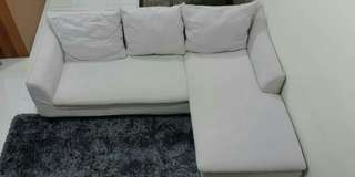 L shape reversible sectional sofa