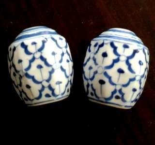 70s Blue White Salt/ Pepper Shaker