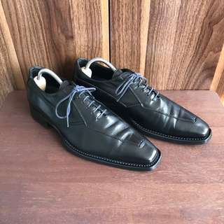 Gay Giano Italiano Black Oxfords Formal Leather Shoes