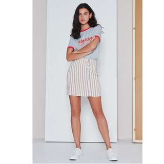 THE FIFTH LABEL STRIPE SKIRT