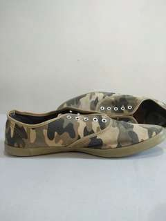 Sneakers canvas motif army