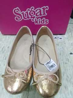 Light gold doll shoes