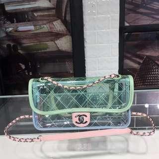 Chanel Pvc Lambskin Flap Bag