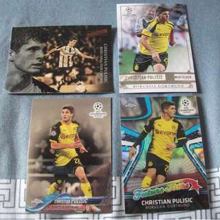 Christian Pulisic Topps/Panini trading cards for trade/sale (Lot of 4 cards)