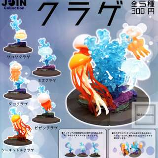 [JUL GACHA PO] JOIN collection Kurage クラゲ 5pcs set