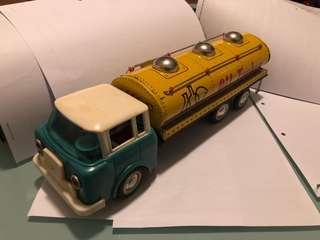 Vintage toys - oil truck - metal