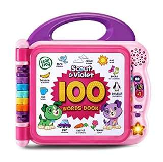 BN LeapFrog Scout and Violet 100 Words Book - Bilingual - Pink/Purple ~US EXCLUSIVE~