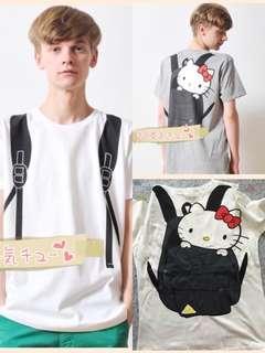 日本grani*h x Hello Kitty 合作設計Hello Kitty 背包T恤📮包郵