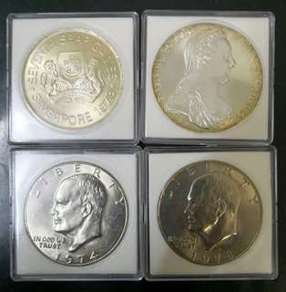 4pcs Nice and beautiful big coin