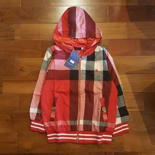 Hoodie jacket burberry merah