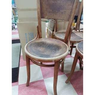 Vintage wooden kopitiam chairs