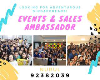 NO EXPERIENCE REQUIRED; Sales Ambassador