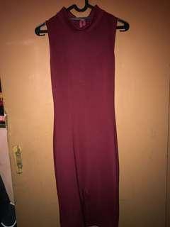 Maroon Sexy Dress