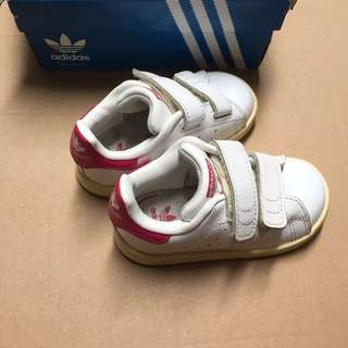 Adidas Stan Smith Pink Shoes size 5K | 21