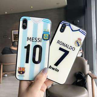 World Cup Messi and Ronaldo iPhone Glass Casing