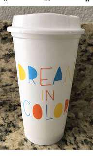 Starbucks US Reusable Cup with Lid 2018 (Dream In Colour)