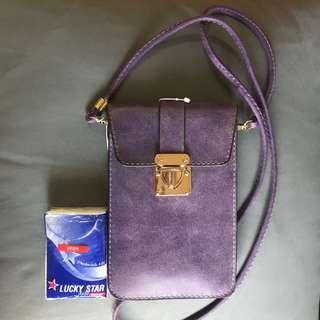 紫色斜孭袋仔#證件袋