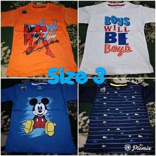 Kaos anak baby victory boys size 3