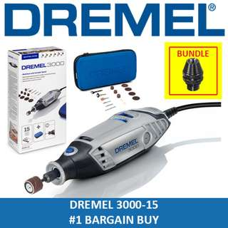 [ BUNDLE OFFER ] DREMEL 3000-15 Rotary Tool Grinder + MULTICHUCK