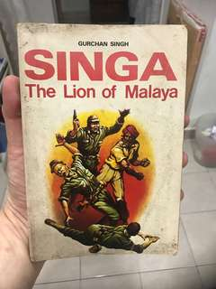 Vintage Book - Singa, Lion of Malaya