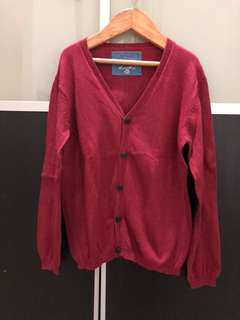 Pre loved boy Zara red cardigan size 5-6 Years old