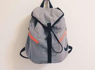 🚚 NIKE AZEDA BACKPACK 灰粉色網布收納袋輕巧便利大容量後背包