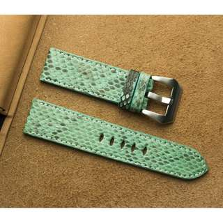 🚚 Panerai watch band / strap Green Python leather, Panerai watch band / strap 22mm, Panerai watch band / strap 20mm, Panerai watch band / strap custom