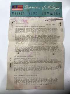 Federation of Malaya Weekly News