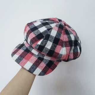 🚚 格紋蓓蕾帽格子貝雷帽