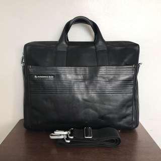 Mandarina Duck Leather Messenger Bag Briefcase