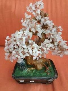 A Natural Rose Quartz Crystal Tree