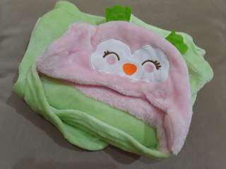 Selimut Bayi with Hoodie - baby blanket Just to You